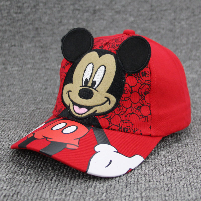 New Lovely Baseball Caps Kids Baby Boys Girls Adjustable Caps Fashion Cartoon Mickey Minnie Children Snapback Hat Bone Masculino baby skullies boys caps headwear chapeau beanies