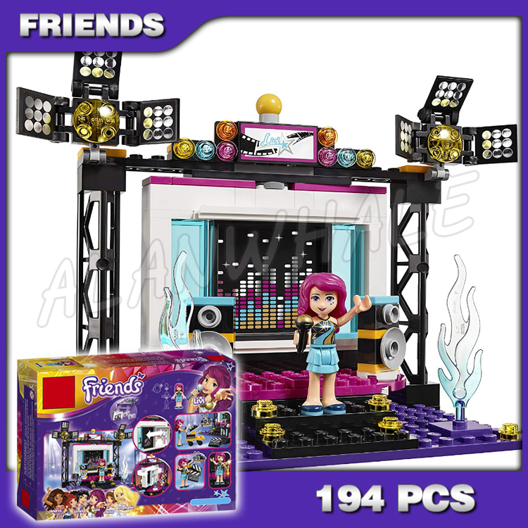 194pcs Friends Series Super Pop Star TV Studio Olivia Andrea Stage 10538 Building Brick Blocks Model Toys Compatible with Lego image