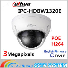 Original Dahua 3MP IPC-HDBW1320E dome IP Camera HD Network IR security cctv Dome IP CCTV Camera Support POE IPC-HDBW1320E