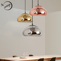 Art Deco Modern Novelty Glass Pendant Light LED E27 With 3 Colors For Parlor Bedroom Dining