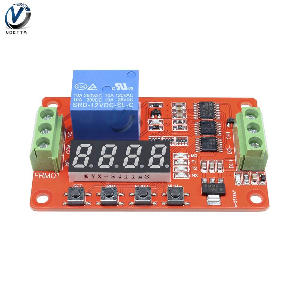 12V Relay Self-lock Timer Thermal Relay PLC Cycle Delay Time Timer Switch Module for Home General Automation Delay Module12V Relay Self-lock Timer Thermal Relay PLC Cycle Delay Time Timer Switch Module for Home General Automation Delay Module