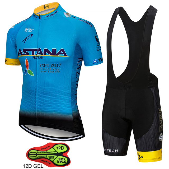 fe68f14c3 ASTANA Pro Team Cycling Jersey Sets Bicycle Racing Short Sleeve Maillot  Ciclismo Men s Summer breathable Cycling Clothing Suit
