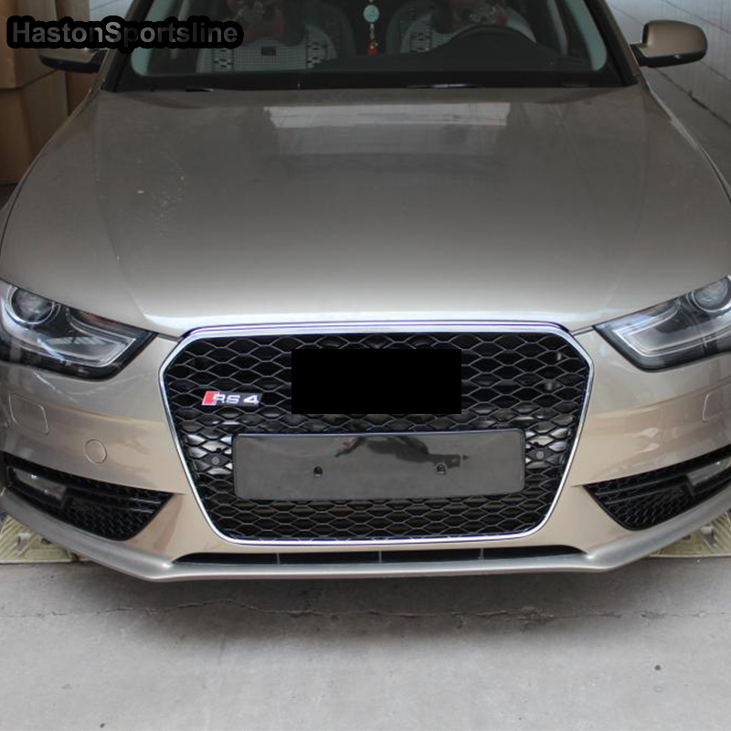 A4 S4 Sline Modified RS4 Style Front Bumper Engine Grill Grids for Audi A4 S4 RS4 Sline 2013 2014 2015 for audi a7 modified rs7 style front hood center grille grill car styling 2012 2013 2014 2015