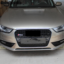 A4 S4 Sline Modified RS4 Style Front Bumper Engine Grill Grids for Audi A4 S4 RS4 Sline 2013 2014 2015