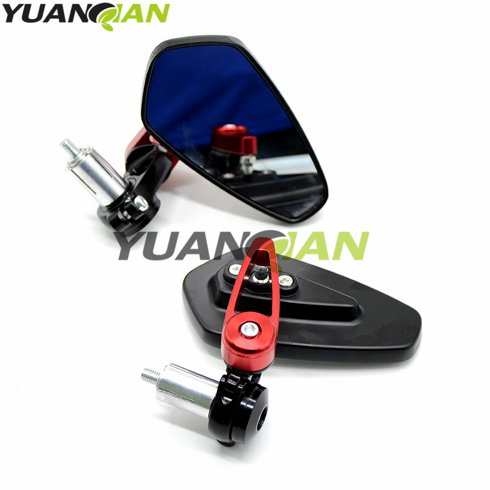 universal Motorcycle Bar End rearview Mirrors 7 8 quot For Honda CB 599 919 400 CB600 HORNET CBR 600 F2 F3 F4 F4i 900RR VTX1300 NC in Side Mirrors amp Accessories from Automobiles amp Motorcycles