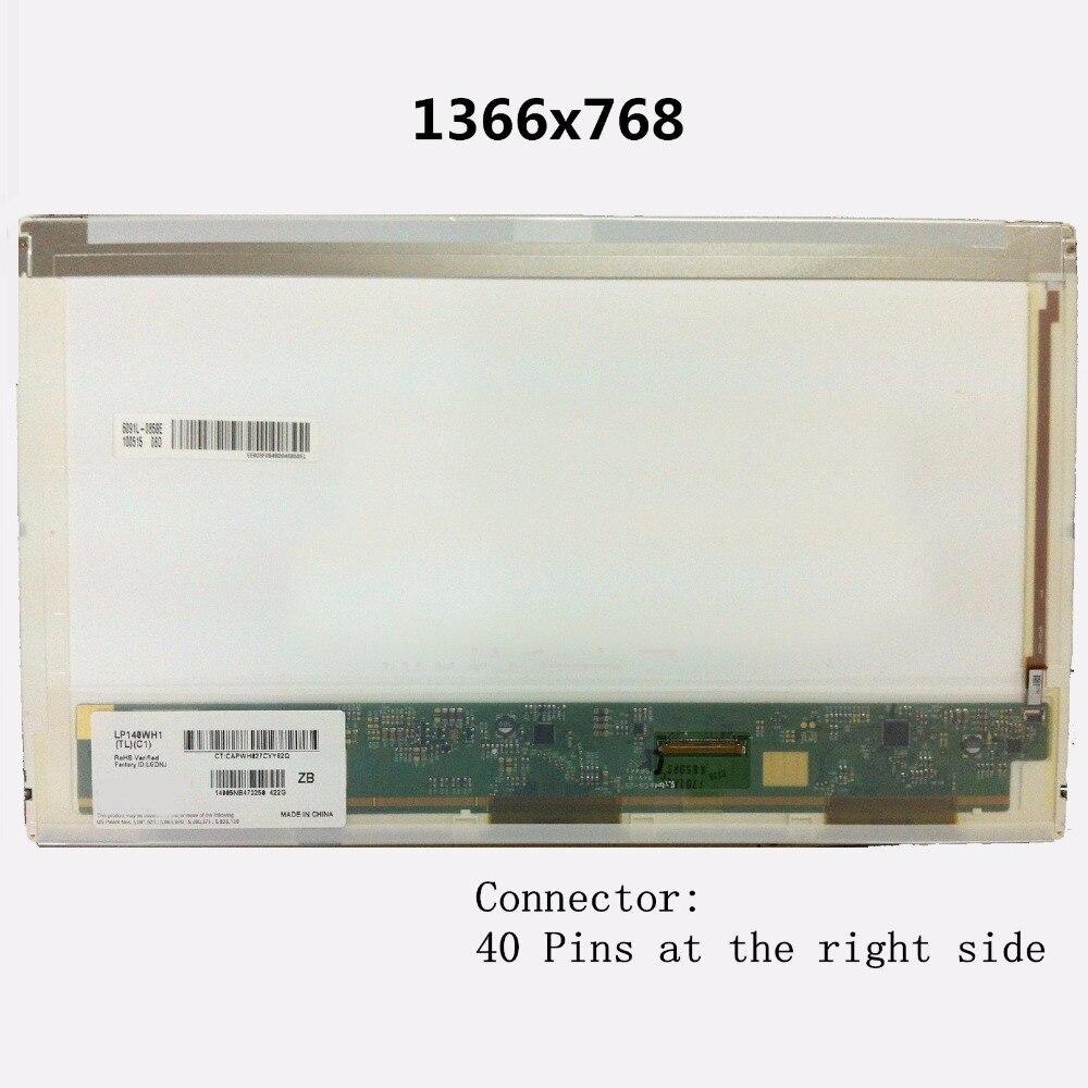 LCD Screen Display Panel Matrix B140XW01 V.2 B140XW01 V.3 LP140WH1 TLC1 LP140WH1 TLC2 LTN140AT03 LTN140AT03-G01 N140B6-L01