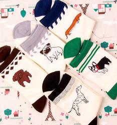 12 пар японский Harajuku животных мультфильм Творческий Вышивка Собака Хаски Пудель мужские и женские Носки Короткие носки Мода Calcetines