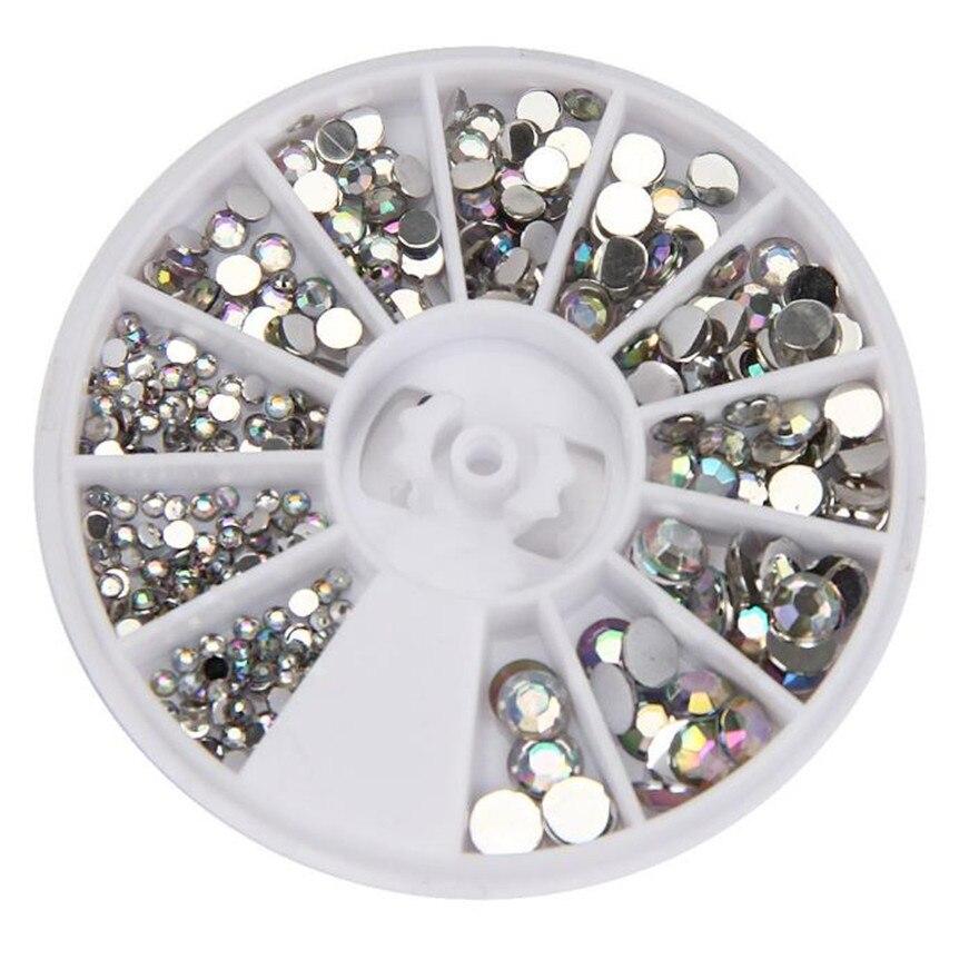 2017 a round 3d acrylic nail art gems crystal rhinestones for 3d acrylic nail art decoration
