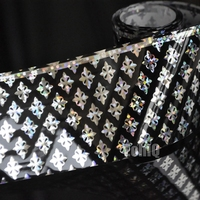 1 Roll 120 Meters Laser Silver Nail Art Stickers Triangle Cobweb Dot Design Pattern Holographic DIY