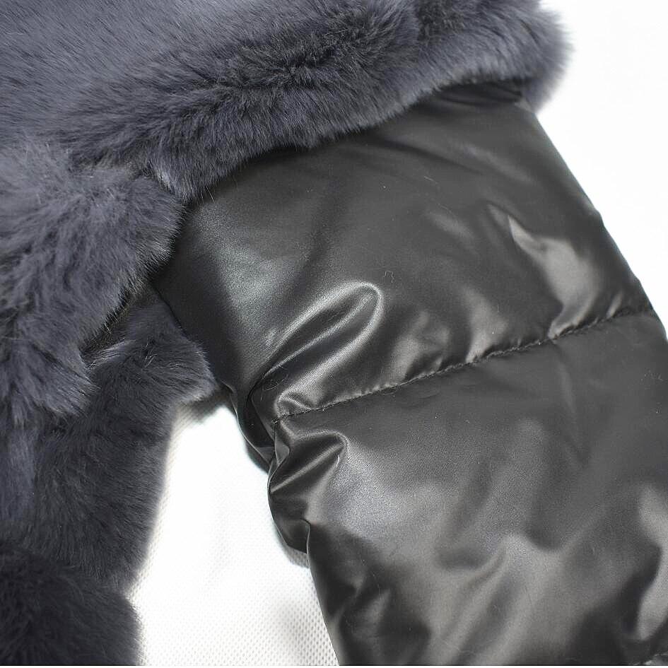 Chaud Naturel Rex Réel Détachable Dames Color Bas Gray New Lapin Et Manches Dark souris De La Automne Le 2018 Fourrure Manteau Chauve Veste Avec Hiver Type Vers EgqpZO