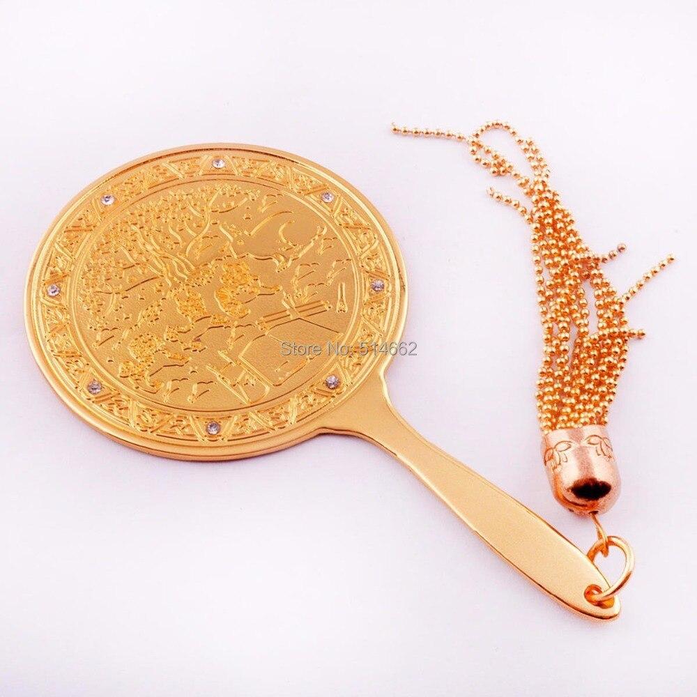 Feng Shui grand argent miroir magique pour le 2/7 Hotu W0996
