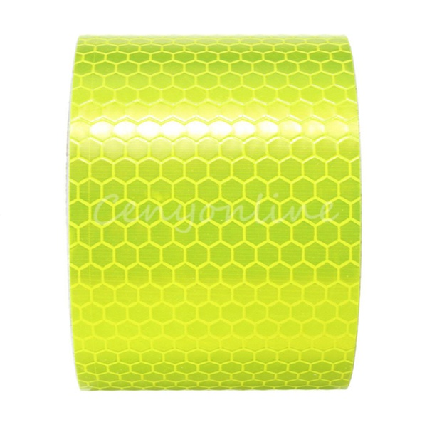 For 300cm Fluorescence Yellow Reflective Safety Warning Conspicuity Tape Workplace Safety Supplies Warning Tapes