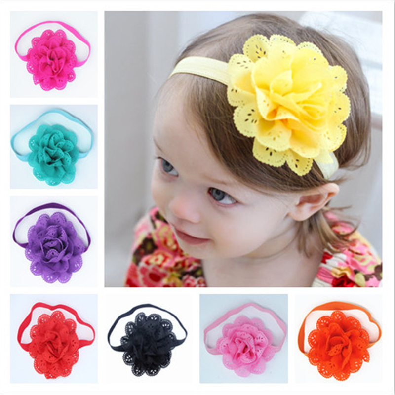 Hot Sale Baby Headband Elastic Hair Bands Baby Girls Headbands Infant Newborn Photography Props Flower Headwear Accessories