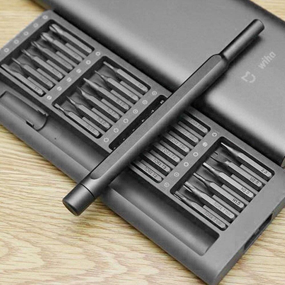 Xiaomi Mijia Wiha 24 in 1 Precision Steel Magnetic Bits Screwdrivers Set With Portable Box for Phone Watch PC Laptop Camera набор отверток precision 277 esd k6 set 6 ед wiha 32279