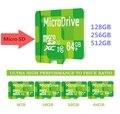 Novo Verde presente 8-128 GB 256 GB cartões de Memória Micro SD cartão de classe 10 Unidade De Armazenamento De cartão Microsd TF cartão de Memória Pendrive frete grátis