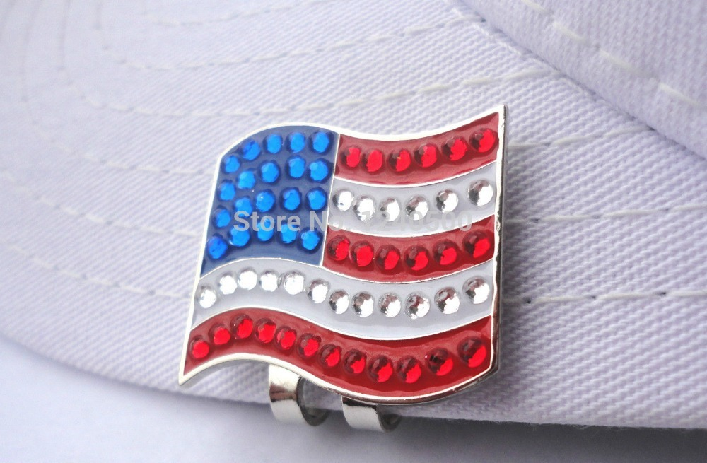 Cristalina Del Envío Libre de La Bandera Americana de Golf Marcador de la Bola c