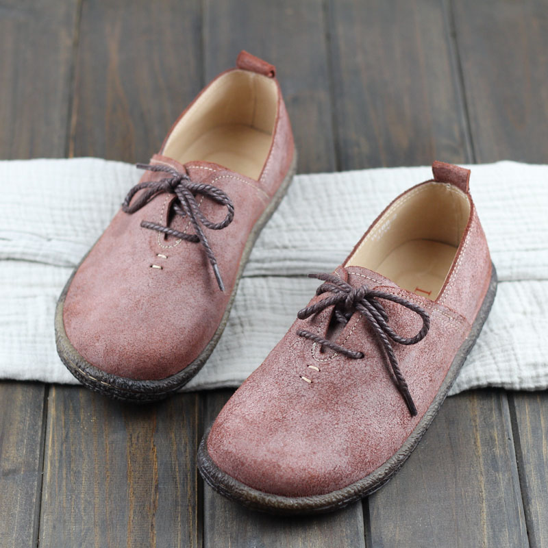 Careaymade-New spring nubuck real leather casual shoes and pure handmade retro art mori girl Flats fashion casual shoes huifengazurrcs new pure handmade casual