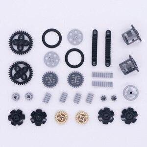 Image 5 - ブロックテクニックパーツギア車軸 conector ホイールプーリーチェーンリンク車のおもちゃマインドストーム互換アクセサリービルディングレンガ