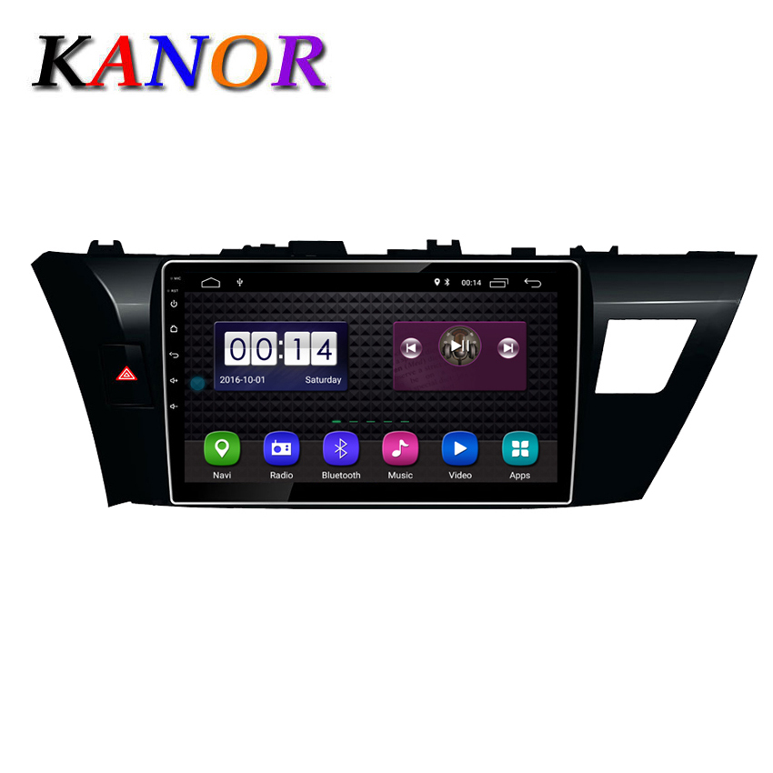 KANOR Android 8.1 Car DVD GPS multimedia player For Toyota Corolla E180 2013-2016 car dvd navigation video audio player car