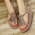 Women Shoes Sandals Tassel Comfort Sandals Summer Flip Flops 2016 Fashion High Quality Wedges Sandals Gladiator Sandalias Mujer