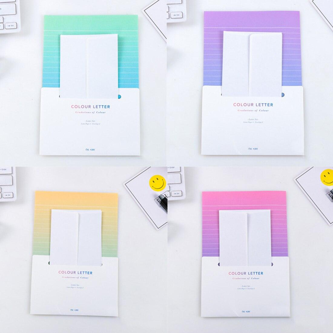 Fangnymph Gradient Envelopes Cute Kawaii Flower Writing Paper Letter