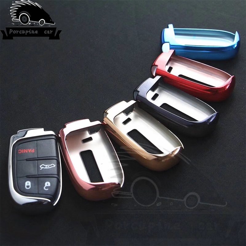 TPU Car Key Cover Case Key Chain Key Chain Protector For Jeep Grand Cherokee Chrysler 300C Renegade Fiat Freemont Car Styling
