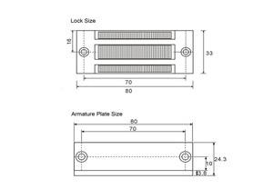 Image 4 - 12V אלקטרוני מגירת מנעול חשמלי מגנטי ארון דלת מנעולי 60kg 100lbs כוח מחזיק אלקטרומגנטית מיני M60