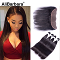 Cheap Brazilian Lace Frontal Closure With Hair Bundles 100% Human Hair 13*4 Straight Hair With Ear to Ear Lace Frontal Closure