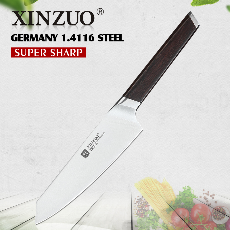 Xinzuo 5 Utility Knife High Quality Kitchen Knives Germany 1 4116 Steel Vegetable Carving Paring Knife Ebony Handle Best Gift