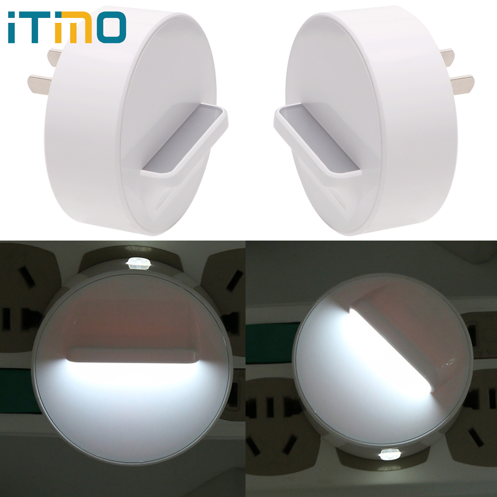 ITimo Night Light Switch Control Bedroom Lamp Plug-in Wall Lamp US Plug 360 Degree Rotation Home Lighting Baby Room Decoration