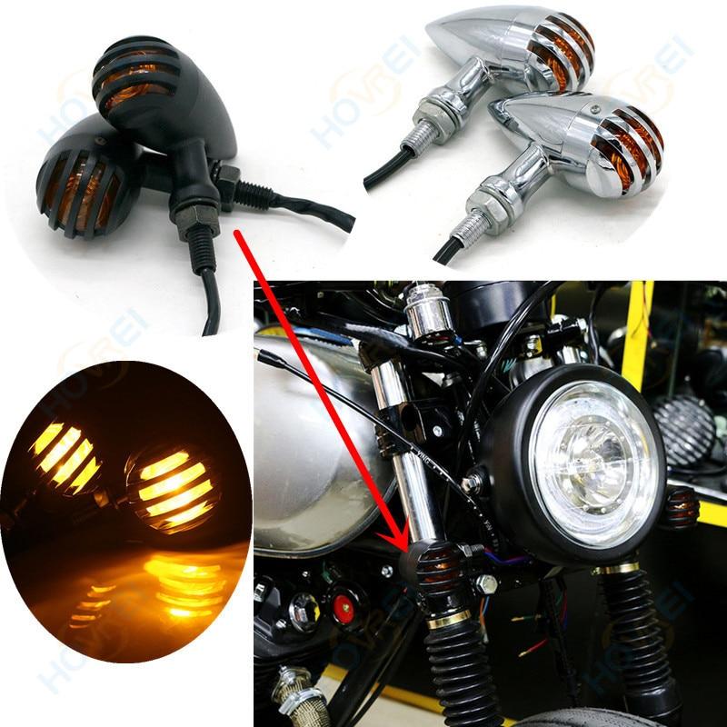 Motorcycle Turn Signals LED Indicators 10mm Amber Lights Bulbs 1 Pair Universal