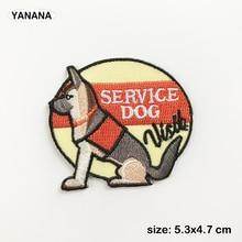 Alaskan dog service Dog puppy cartoon animals Embroidered Iron on stickers DIY