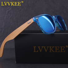 LVVKEE NEW 2017 Top quality wood sunglasses men retro brand designer bamboo Sun Glasses for women UV400 Eyewear oculos de sol