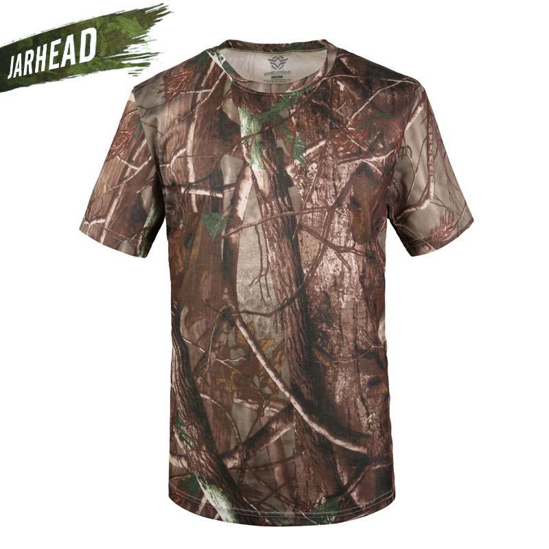 Summer Outdoor Short-sleeved Camouflage Climbing T-shirt Hiking Tops Men Army Tactical Breathable T-shirt Combat Pythons Tees Wrench