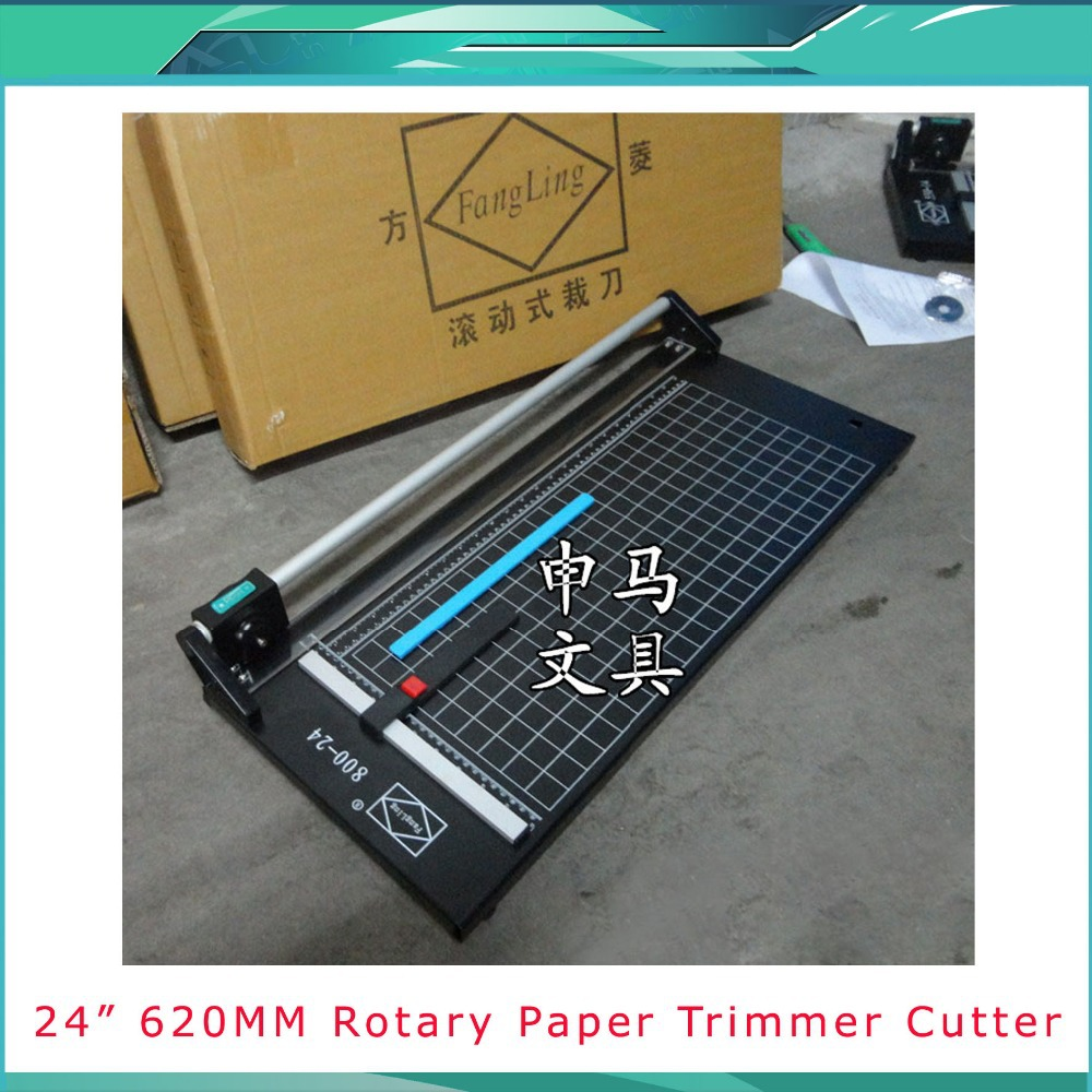 Brand New 24In 620mm Rotary Photo Vinyl Paper Cutter Portable Trimmer +1 Blade 2017 new manual rotary paper cutter trimmer 310mm 20sheets paper cutting and perforating double function new design