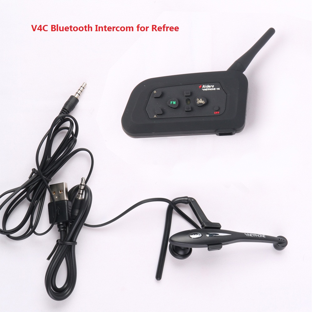 Free Shipping Vnetphone 1200M 4 Users Full Duplex Talking At Same Time Football Referee Headset Bluetooth Intercom Interphone