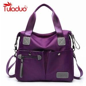 Image 1 - Large Capacity Messenger Bag Womens Waterproof Nylon Handbag Bags For Women 2018 Casual Shoulder Crossbody Bags bolsa feminina