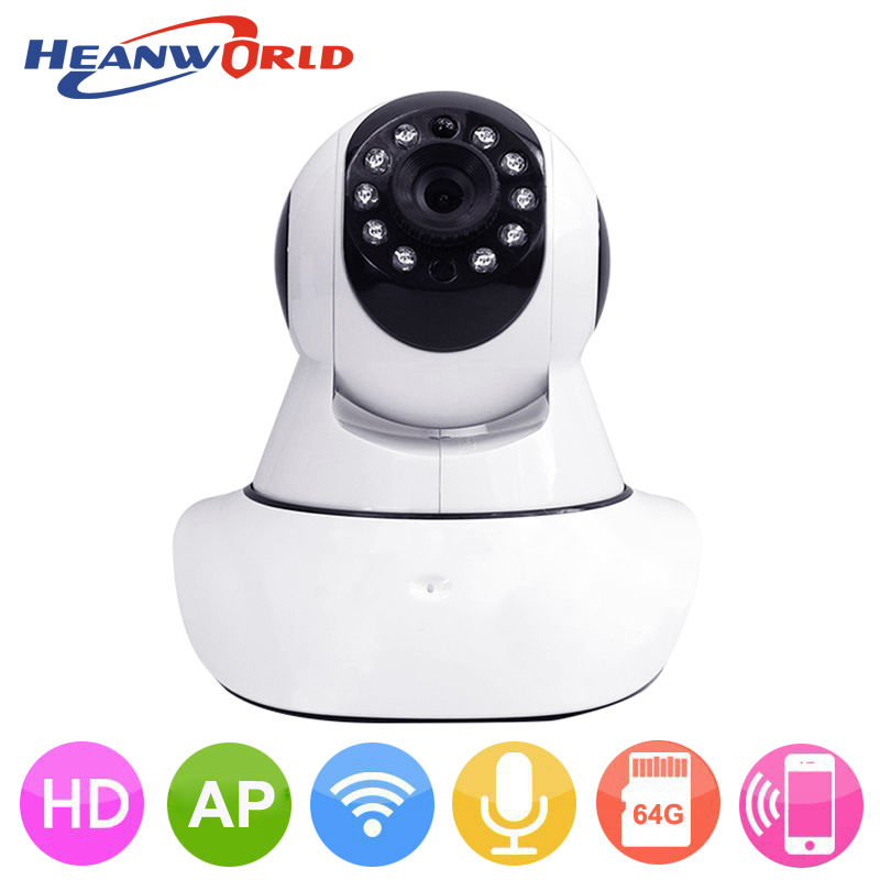 HD 720P IP Camera Wifi P2P Security Camera Wireless Baby Monitor Night Vision Audio Pan/Tilt SD Card Surveillance Network Webcam wanscam hw0021 hd 720p wireless wifi ip camera baby monitor ir night vision built in mic pan tilt for android