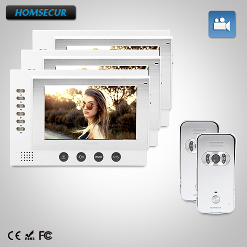 HOMSECUR 7 Wired Hands-free Video Door Phone Intercom System+Dual-way IntercomHOMSECUR 7 Wired Hands-free Video Door Phone Intercom System+Dual-way Intercom