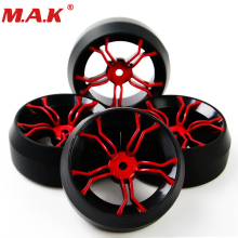 4Pcs RC 1/10 Racing Off Road Rally Tires and Wheel Rubber Tyres 12mm Hex Rim For RC 1:10 Car Parts and Accessory