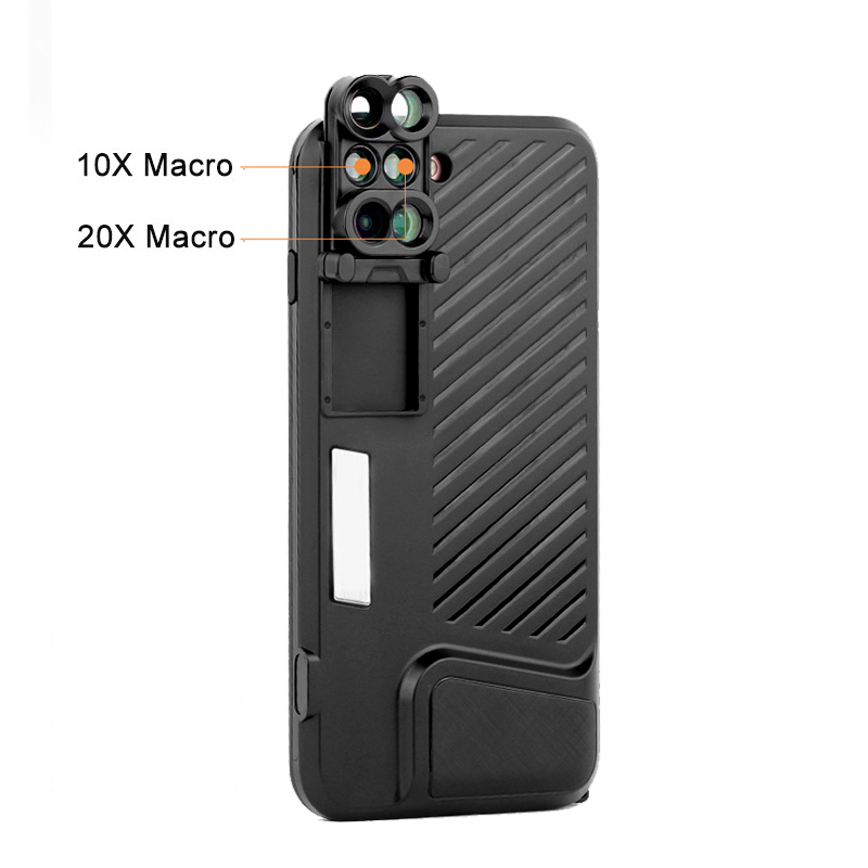 18 New Arrival Dual Camera Lens For iPhone X 8 Plus Fisheye Wide Angle Macro Lens For iPhone 7 Plus Phone Case Telescope Lens 13