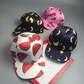 Мода личность фрукты печатных регулируемая бейсболки мужской кривой брим street носить случайный зонтик snapback cap