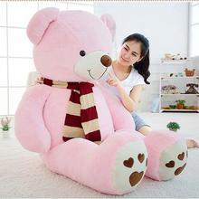 Гигантский толстый выпуск плюшевый медведь шарф Кукла Плюшевая Игрушка Большой объятий медведь Рождественский подарок