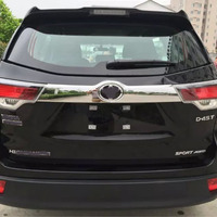 1PC ABS CHROME REAR TRUNK GARNISH LID COVER TRIM CAR ACCESSORIES STYLING FIT FOR 2015 TOYOTA HIGHLANDER