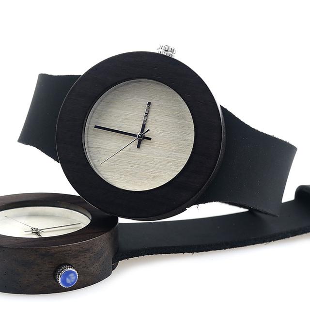 Women's Black Minimalist Leather Watch