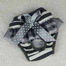 Pet Dog Puppy Physical Pants Dog Strap Design Bowknot Cloth Diapers Sanitary Bow Short Pants Underwear diaper dog hygiene pants