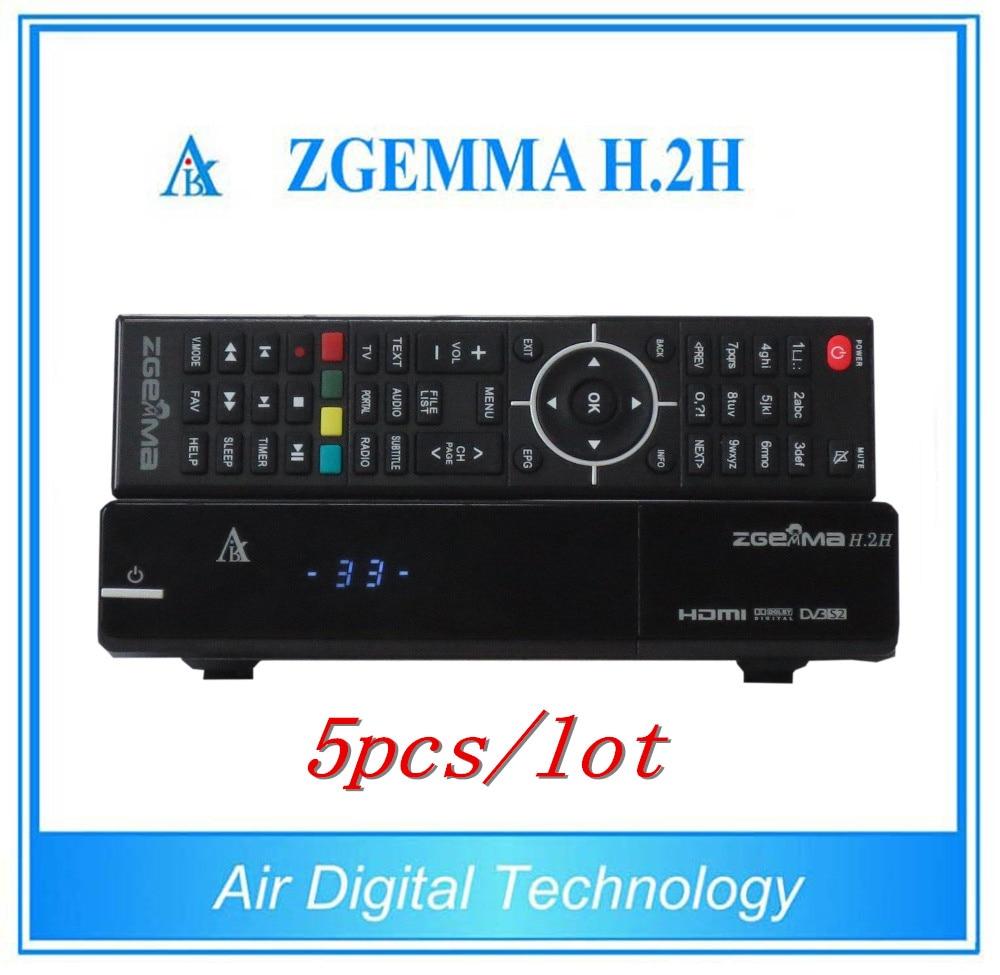 5pcs/lot HDMI Full 1080P IPTV Set Top Box Zgemma H.2H Satellite Receiver Linux OS Enigma2 DVB-S2+S2 Tuners