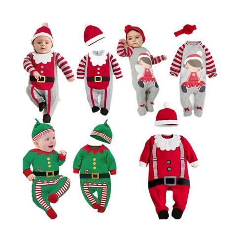 2018 New Autumn and Winter Baby Romper Santa Claus Boy Girls Baby Clothes Rompers Long Sleeves Christmas Infant Jumpsuit sr039 newborn baby clothes bebe baby girls and boys clothes christmas red and white party dress hat santa claus hat sliders