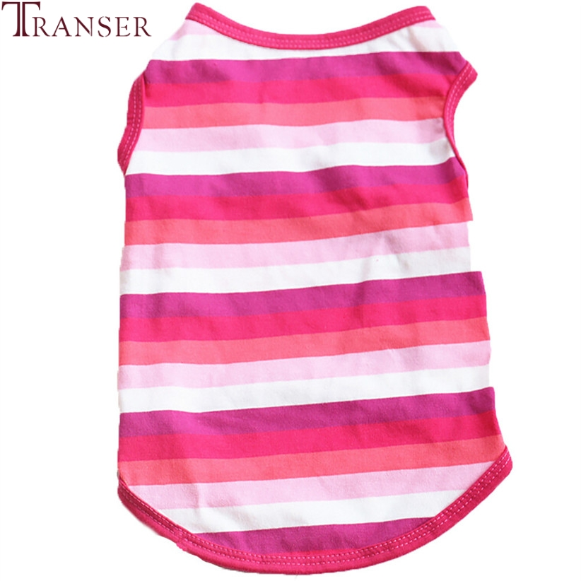 Transer Pet Dog Clothes For Small Dogs Cat Dog Striped Vest Summer Pet Tee Shirt Puppy Clothing 80118