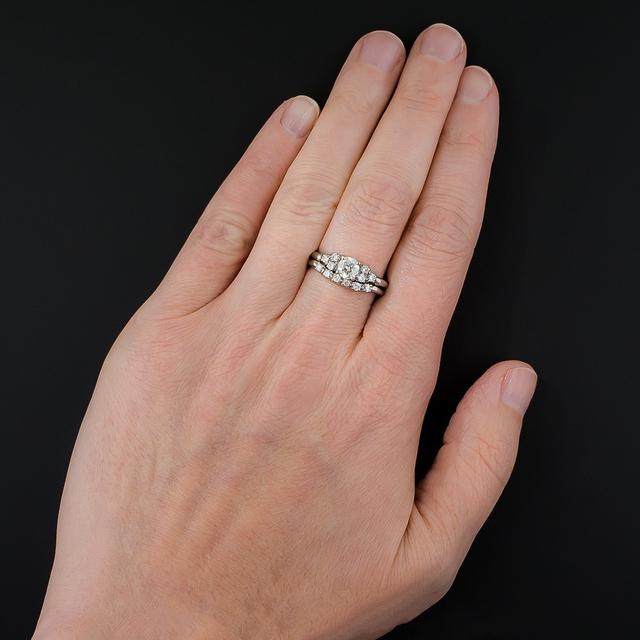 10K White Gold 0.6CT Lab Grown Diamond Ring